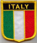 Italy Embroidered Flag Patch, style 07.